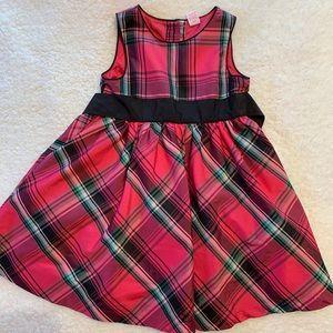 Oshkosh Red Plaid Dress-Size 3T